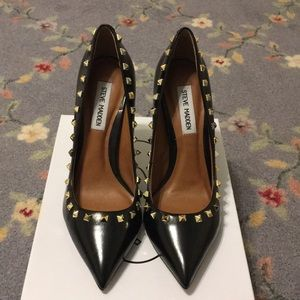 Women's Steve Madden Gold Spike Heels on Poshmark
